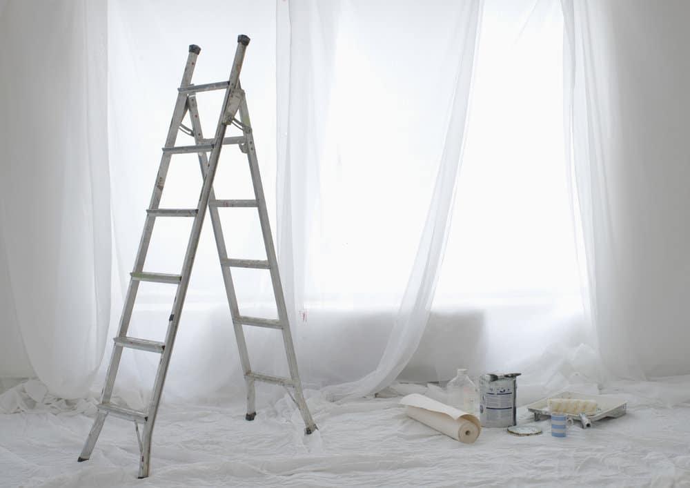 Voorbereiding vliesbehang plaatsen
