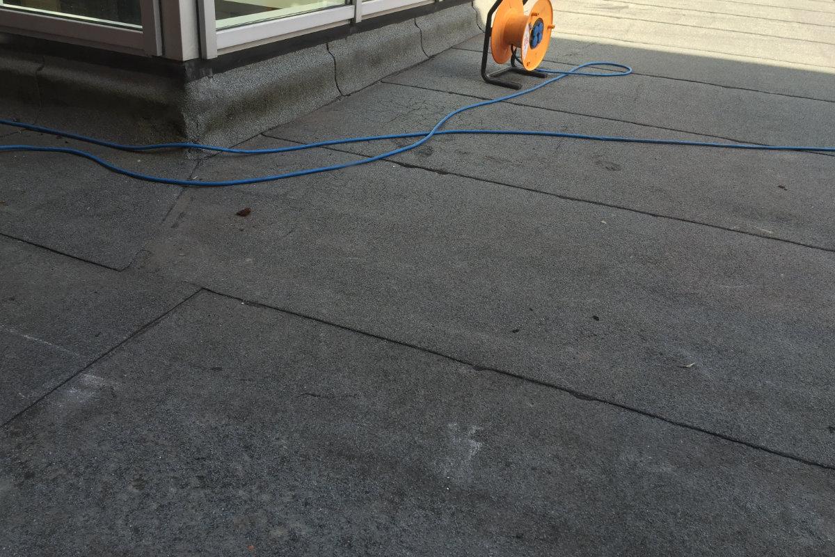 Bitumen dakbedekking plat dak
